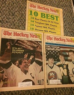 The Hockey News- June, July, & Aug. 1983- Denis Potvin, Barasso, Lawton, +covers