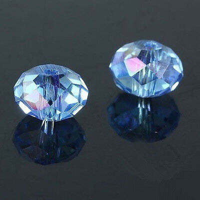300pcs light blue ab exquisite Glass Crystal 3*4mm #5040 loose beads;