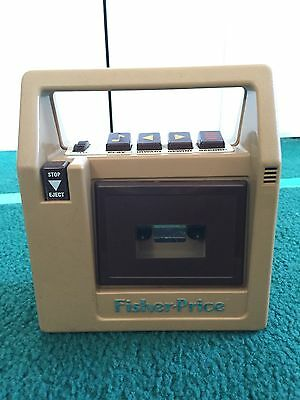 1980 Vintage 826 Fisher Price Cassette Tape Recorder & Player brown model