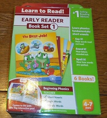 LeapFrog Tag LeapReader Learn to Read 1 Early Reading Series Book Set - 6 books