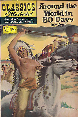 Classics Illustrated 69 HRN 167 VF- Around the World in 80 Days 1965 Jules Verne