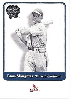 ENOS SLAUGHTER 2001 Fleer Greats of the Game #34