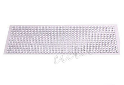 Silver Cell Phone Car Computer Self Adhesive Rhinestone Bling Stickers 3mm Round