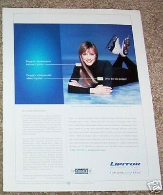 2002 ad page - Lipitor Pfizer Drug PEGGY FLEMING ice skater PRINT AD