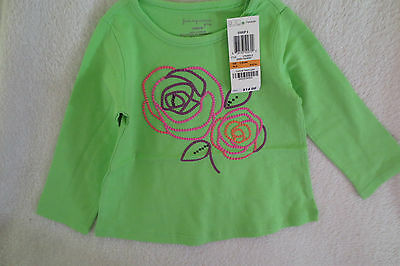 First Impression Play Baby Girl Long Sleeves Top Size 12 Month Green New cute