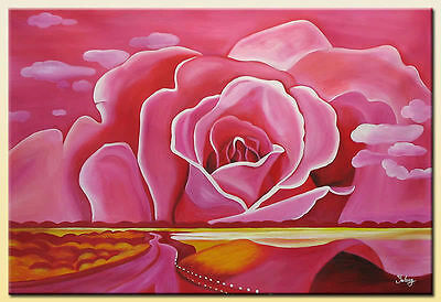 Yuhong Rose hand painted floral oil painting bestbid_mall D648