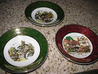 REDUCED Weatherby Hanley Royal Falcon Ware 3-69 Plates England Set of 3 NEW