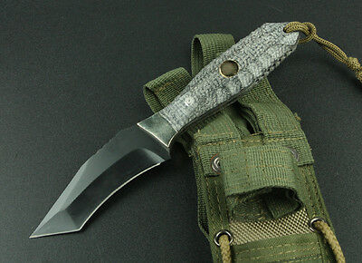 "US Army Survival Tactical Deer Hunting Full Tang Combat 9"" Knife w/ Nylon Sheath"