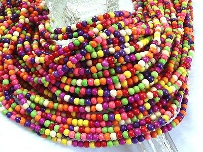 Free 100pcs Mixed color turquoise beads 4mm for Jewellery making
