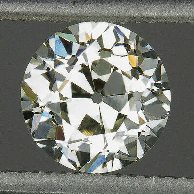 1900s 3/4ct VINTAGE OLD EUROPEAN CUT DIAMOND K VS2 EGL-USA CERT LOOSE ANTIQUE
