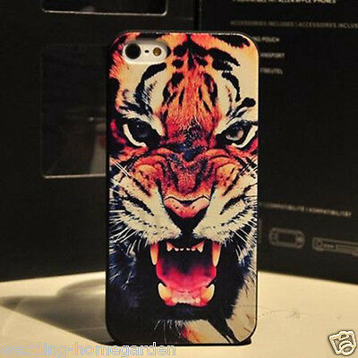 Hot Tiger Head Printing Hard Back Skin Case Cover Protect For Apple Iphone 4/4s