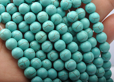 200Pcs 4MM Howlite Turquoise Gemstone Round Loose Spacer Beads z392