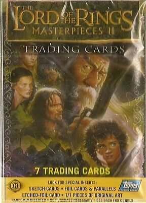 2007 Topps Lord of the Rings Masterpieces 2 Card Set (72 cards)