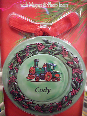 CODY   Personalized Metal Christmas Ornament, Magnet w Photo Insert  4-in-1 NEW!