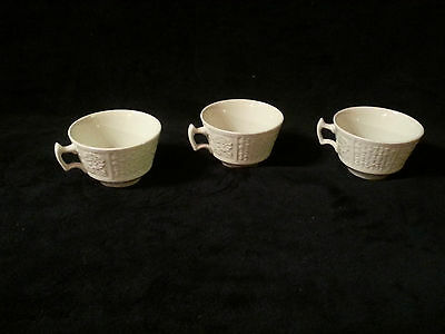 Set of 3 Wood & Sons England Tudor White  Cups (only)