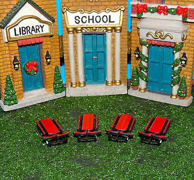 Red Sled Set Of Four 1:24 (G) Scale Diorama