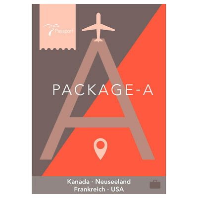 Passport Virtual Active - USB Stick Pack A (Kanada, Neuseeland, Frankreich, USA)