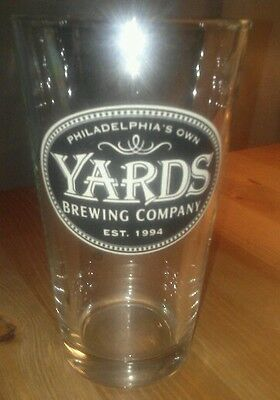 Philadelphia's own yards Brewing Company 1994. Pint beer glass.