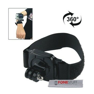 360 Degree Adjustable Wrist Strap Mount for GoPro Hero4 Hero5 4/3+/3 Session 4 5
