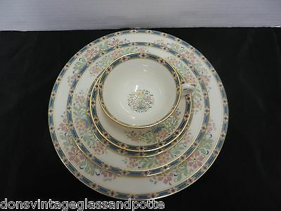 Lenox Mystic 5 Piece Place Setting Dinner Salad Bread Plates Cup Saucer