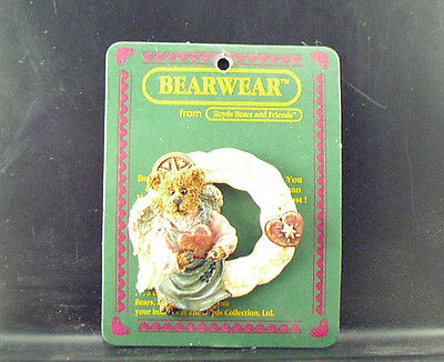 New Boyds Bears Angel Wreath Pin ARIEL LOVE CONQUERS ALL-Bless Your Heart!