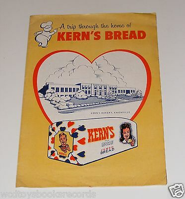 Vintage Kern's Bakery Bread Tour History Brochure Booklet Knoxville Tennessee
