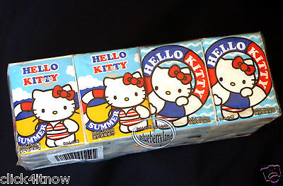 12 Packs Sanrio HELLO KITTY Tissue Paper Pack set woman home ladies Girl summer
