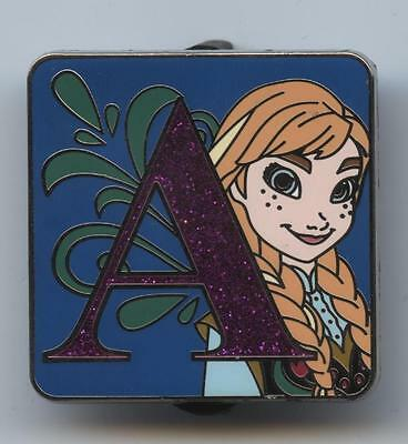 """Disney CHASER PRINCESS ANNA from FROZEN ALPHABET LETTER """"A"""" MYSTERY LE 400 PIN"""