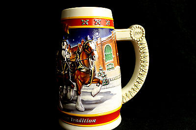 1999 Budweiser 20th Anniversary Christmas Holiday Collector Beer Stein