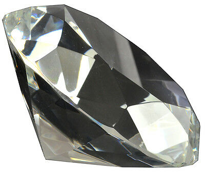 d577b45a82d77 Large 4 inch 100mm clear crystal glass diamond paperweight gifts weddings  MORE