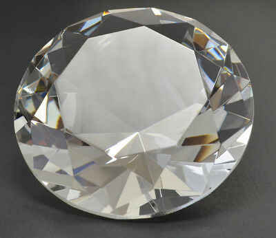 3.15 inch 80mm Clear Crystal Glass Diamond Paperweight  FREE SHIPPING  Engravabl