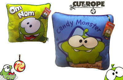 "Cut The Rope 12"" Inch OM NOM Square Cushion Pillow App Accessory From Zeptolab"