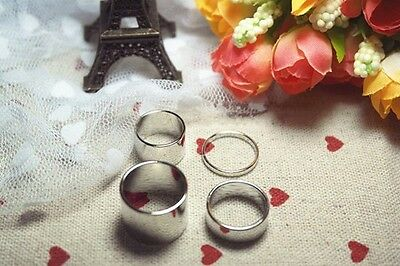 Glamour Silver Tone Metal Smooth Joint Set Of Four Knuckled Rings
