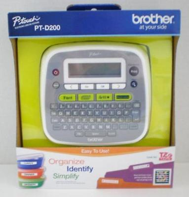 New Brother P-Touch PT-D200 Label Makers Thermal Printer for Home and Office