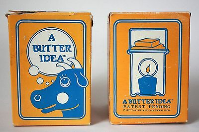 Rare 1977 Taylor & Ng A BUTTER IDEA Butter Warmers Very Hard To Find Never Used