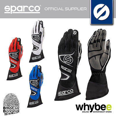 00256 Sparco Tide Kg-9 Kart Gloves Htx 3D Fabric High Grip - 4 Colours Size 7-12