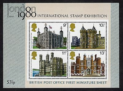 GB: London 1980 International Stamp Exhibition; pair mint (MNH) miniature sheets