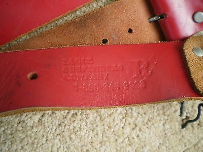 VINTAGE EAGLE LEATHER FIREFIGHTERS TURNOUT BUNKER SUSPENDERS