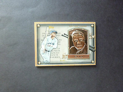 Babe Ruth, 2012 Topps Update Gold Hall of Fame Plaque, HOF-BR, New York Yankees