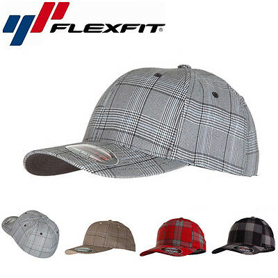 Flexfit Glen Check Baseball Cap Fashion Mütze