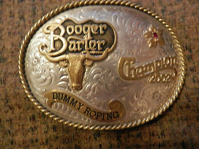 GIST BOOGER BARTER DUNNY ROPING CHAMPION TROPHY BUCKLE 2002