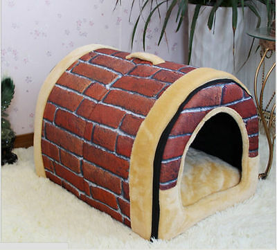 Outdoor Pet Kennel Bed Cozy Large/Small/ For Dog And Cat Puppy Durable House S#