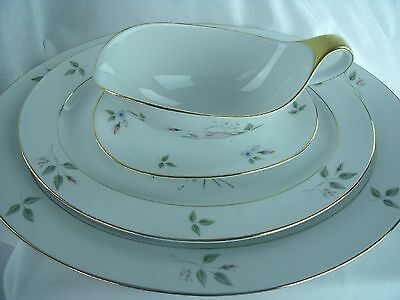 H & C Selb Bavaria Germany Heinrich 78321 Two Platters 16 & 13 In. & Gravy Bowl
