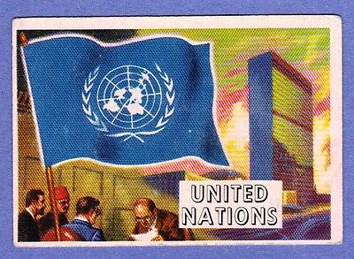 1956 Flags of the World #80 United Nations in VG Condition