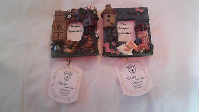Two Mini Resin Picture Frames Set Of Two New