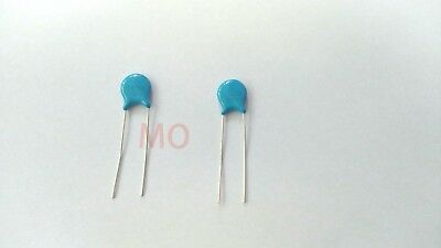 100 pcs  Blue Ceramic Disc Capacitors  1KV 1000V 103PF 10nF 0.01uF