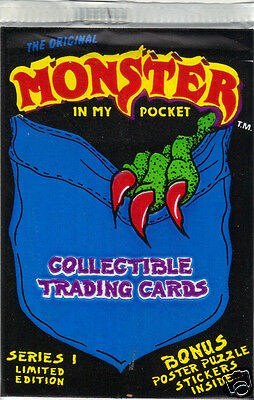 1991 Monster In My Pocket Sealed Pack by Morrison Entertainment Group EX