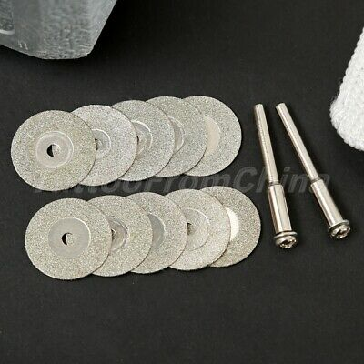 10x 20mm Mini Diamond Tipped Cut Off Disc Wheel for Rotary Tool Stone Cutting