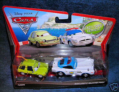 DISNEY PIXAR CARS 2 MOVIE MOMENTS ACER SECURITY GUARD FINN SUPERCHARGED WORLD