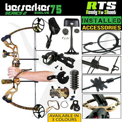 New 30-75 Lbs Apex Berserker Evolve Compound Bow Rts Kit For  Archery Hunting